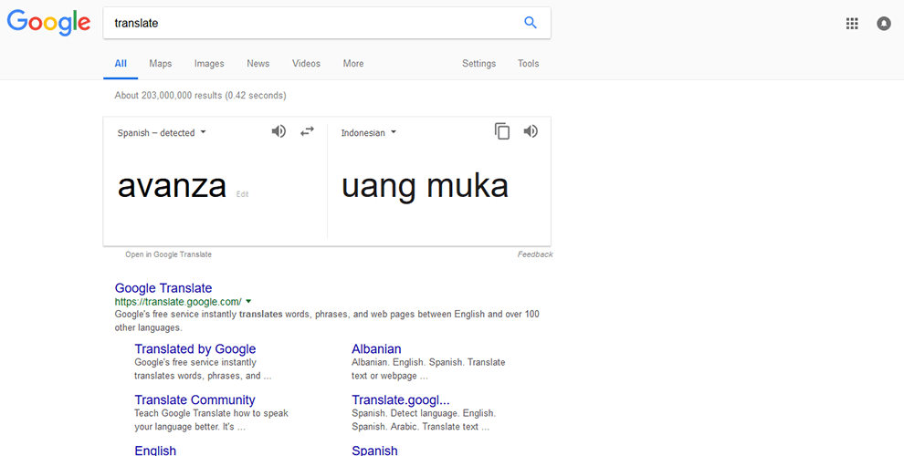 Google Translate Mobil Toyota Avanza