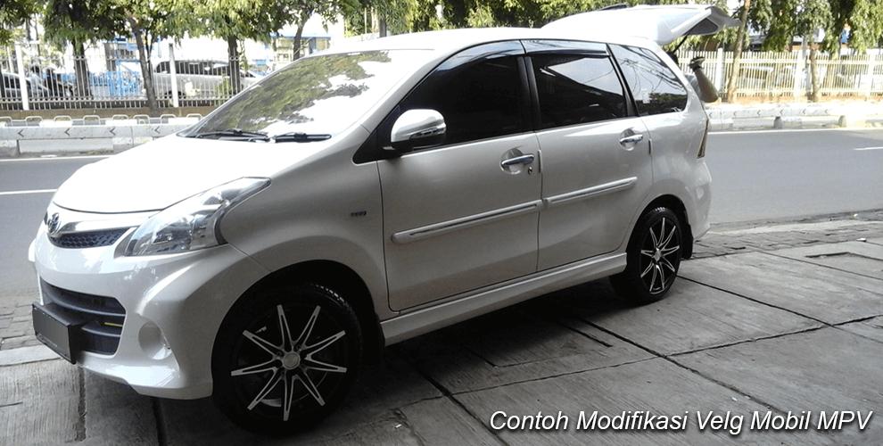 Contoh modifikasi velg mobil mpv
